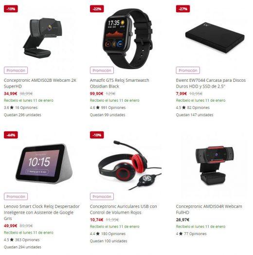 Ofertas de Enero en PC Componentes Los top ventas