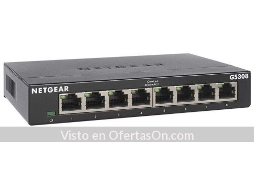 Switch de 8 puertos Netgear GS308 300PES