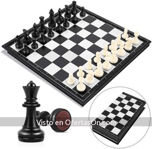 Tablero de ajedrez plegable magnetico 25x25cm