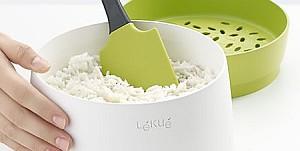 cocedor de arroz y cereales para microondas