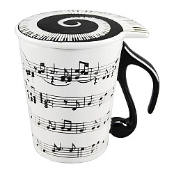 taza notas musicales con tapa por 9 91